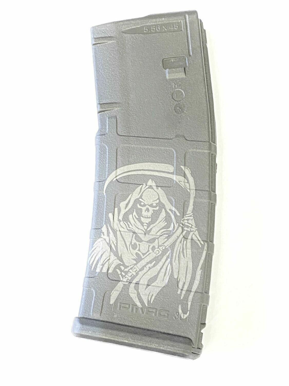 10/30 GRIM REAPER - Magpul Pmag GEN M2 MOE AR-15 (.223/5.56) Magazine - Black