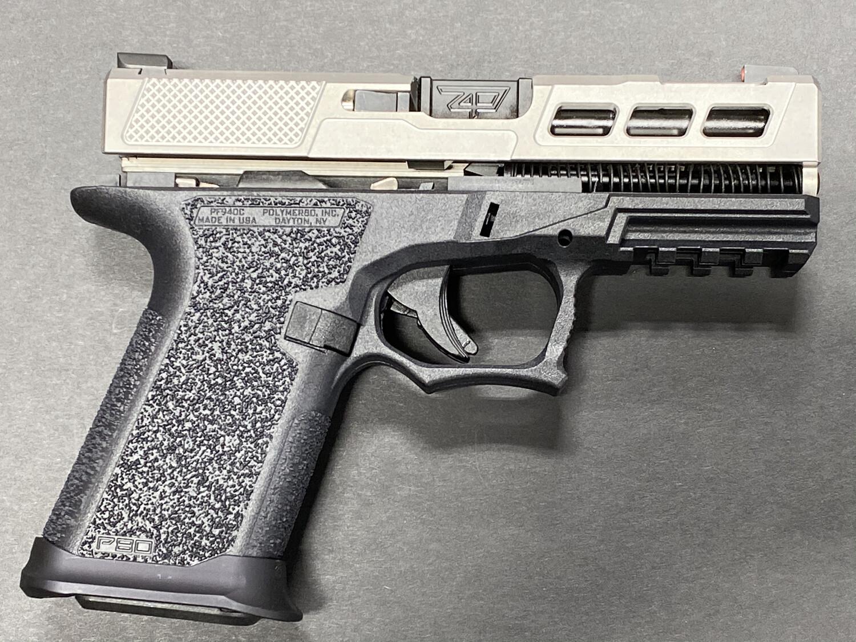 Patriot Warrior Ported Black Barrel & Windowed G19 80% Pistol Build kit 9mm Black