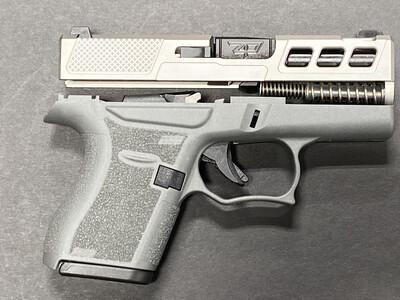 Patriot Warrior Ported Black Barrel & Windowed G43 80% Pistol Build Kit 9mm Gray