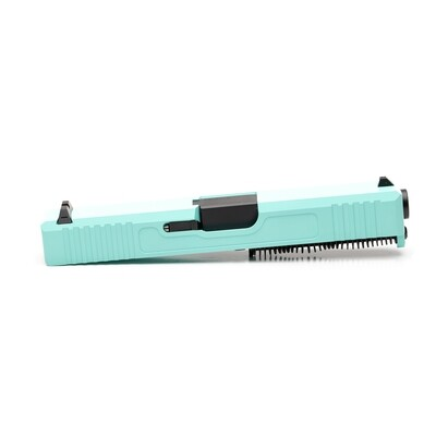Glock 19 Slide w/ Front & Rear Serrations - Tiffany Blue