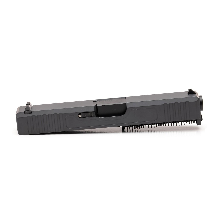 Glock 19 Slide w/ Front & Rear Serrations - Sniper Gray