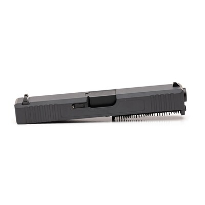 Glock 19 Slide w/ Front & Rear Serrations - Sniper Gray