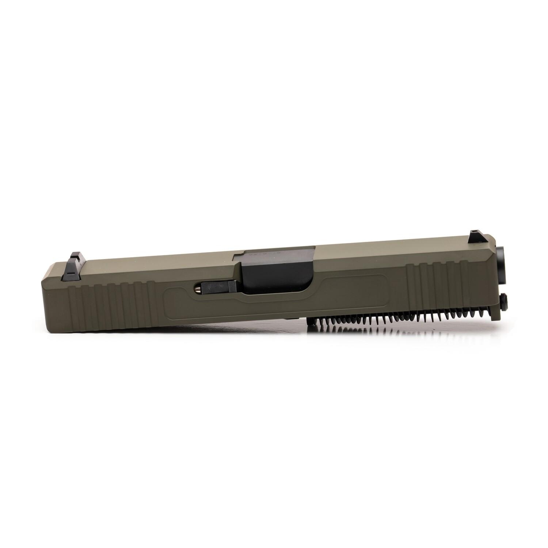 Glock 19 Slide w/ Front & Rear Serrations - FDE