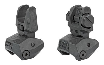 F.A.B., Flip Up Front and Rear Sight Set, Fits Picatinny Rails, Polymer, Black
