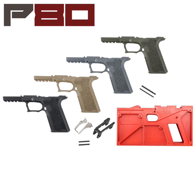 Polymer80 Glock 17/22 80% Pistol Frame Kit, Standard Texture - G17 Pick Your Color
