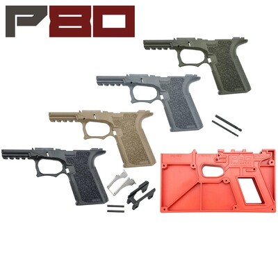 Polymer80 Glock 19/23 80% Pistol Frame Kit - Standard Texture G19 Pick your frame color