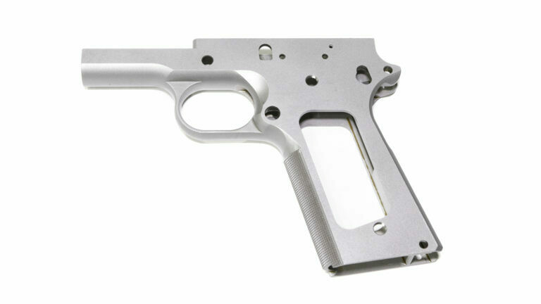 1911 80% Full Size 9mm Commander Frame - 416R Stainless Steel With Grip Checkering For Ramped Barrels