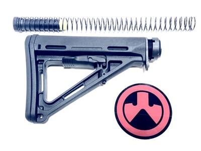Magpul MOE Carbine Stock Mil-Spec 6 Position Carbine Buffer Tube Kit