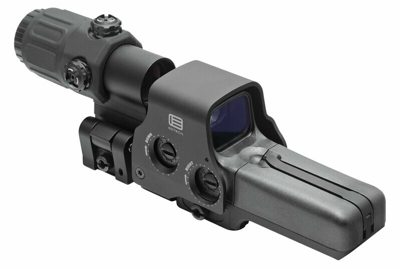 🔥 Eotech HHSIII Hybrid Sight III Magnifier Combo 3x 68 MOA Ring/2 1 MOA Red Dot Black AA 1.5V 518.2 Holographic Sight & G33 Magnifier