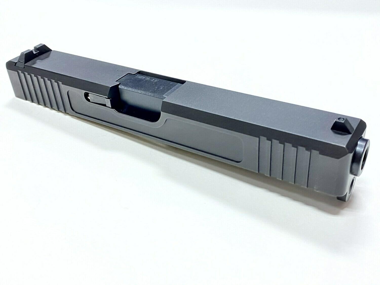 Glock 17 Slide w/ Front & Rear Serrations - Black Nitride