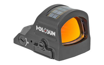 Holosun Technologies, 507C-X2, Red Dot, 32 MOA Ring & 2 MOA Dot, Black Color, Side Battery, Solar Failsafe