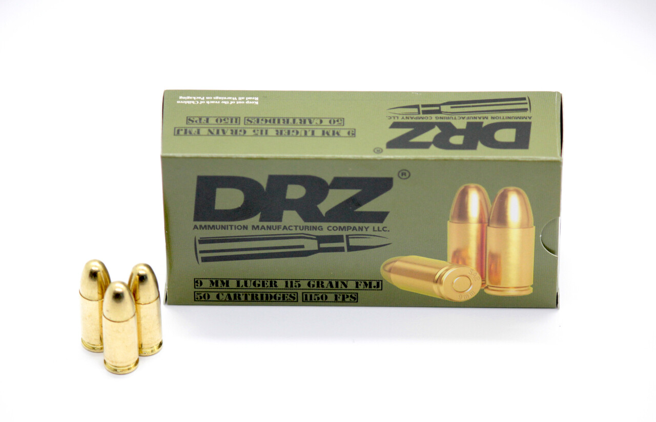DRZ 9MM LUGER 115gr  FMJ 1000RD CASE SHIPPING INCLUDED IN PRICE