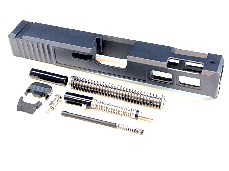 Glock 19 Black Gen 3 Patriot Ported Windowed Slide With Slide Upper Build kit & Stainless Steel Guide Rod