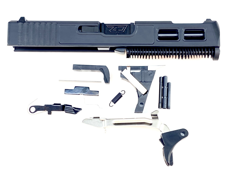 Glock 19 Gen 3 Patriot Black Built Ported Windowed Slide With Black Stainless Steel Ported Barrel