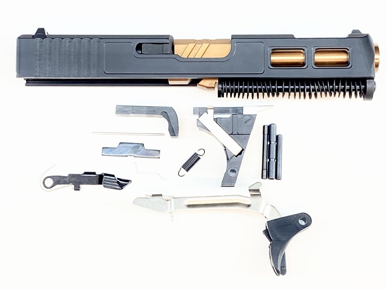 Glock 19 Gen 3 Patriot Black Ported Windowed Slide - Zev Pro  Bronze Barrel