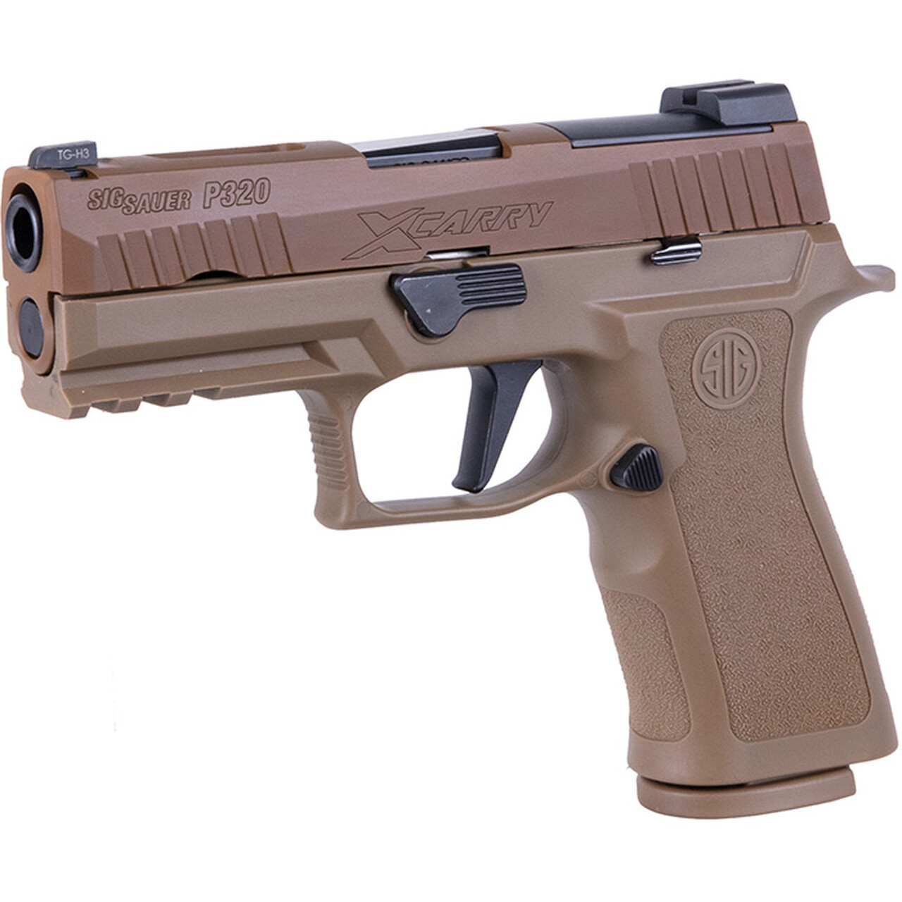 80% SIG Sauer P320 X-Carry 9MM 3.9 Inch 17 Round Coyote Xray Night Sight - Comes With P320 80% Insert MUP 1 - Pistol Case