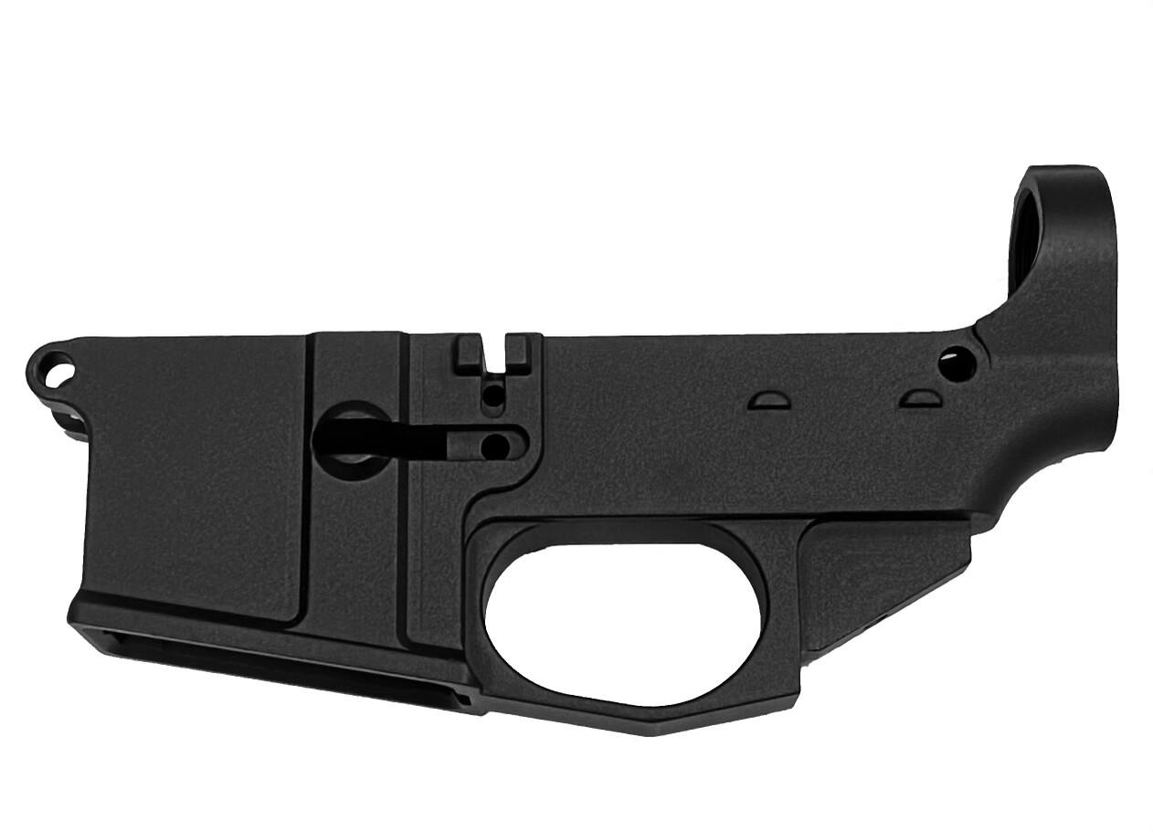 Premium USPA Billet AR-15 80% Lower Receiver - Black Anodized