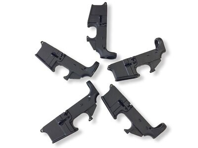 80% AR-15 5.56 Lower Receiver - Hard Anodized Forged Black         5 Pack