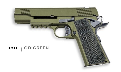 U.S. Patriot 80% 1911 Government Full Size .45 ACP Pistol Kit - OD Green - Add a Stealth Arms 1911 Jig For $99 With Order....