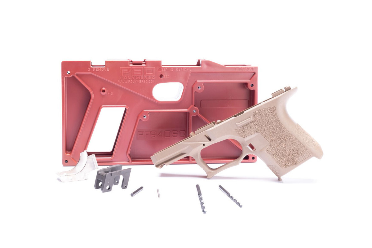 PF940SC 80% SUBCOMPACT FRAME KIT - FDE - ADD GLOCK 26 LOWER PARTS KIT FOR $29.99