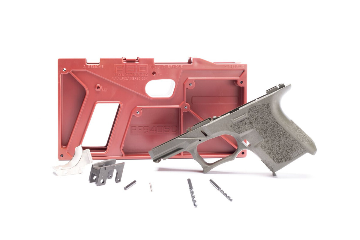 PF940SC 80% SUBCOMPACT FRAME KIT - GRAY - ADD GLOCK 26 LOWER PARTS KIT FOR $29.99