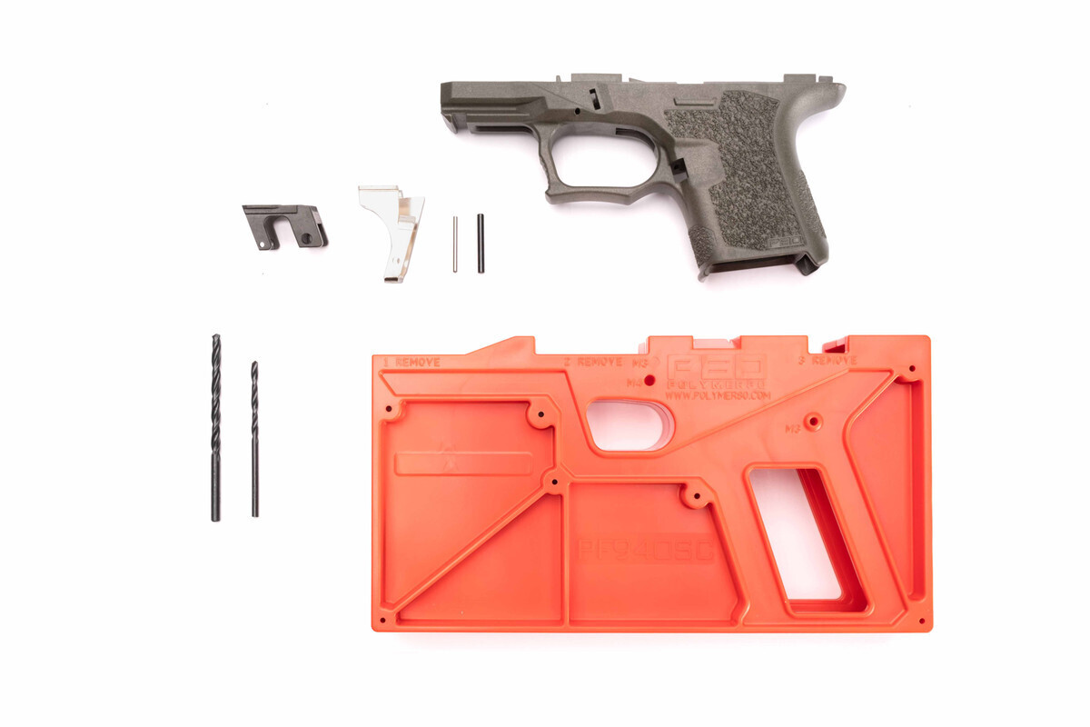 PF940SC 80% SUBCOMPACT FRAME KIT - OD GREEN - ADD GLOCK 26 LOWER PARTS KIT FOR $29.99