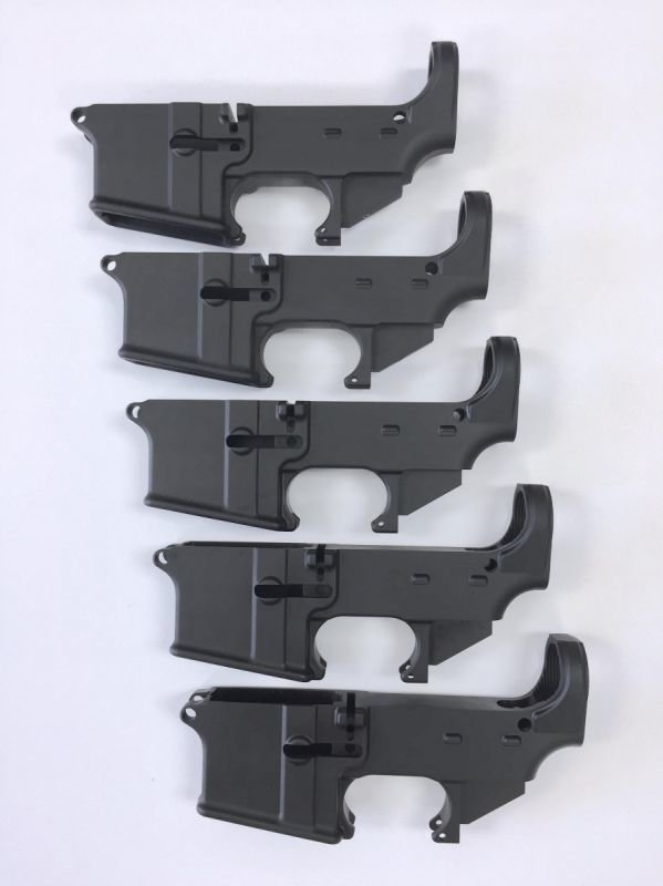 80% Lower Receiver - Hard Anodized Forged 5.56/.223 - Black (5-Pack)
