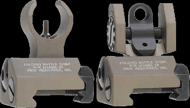 Troy Battle Sight Micro Front & Rear - Desert Tan