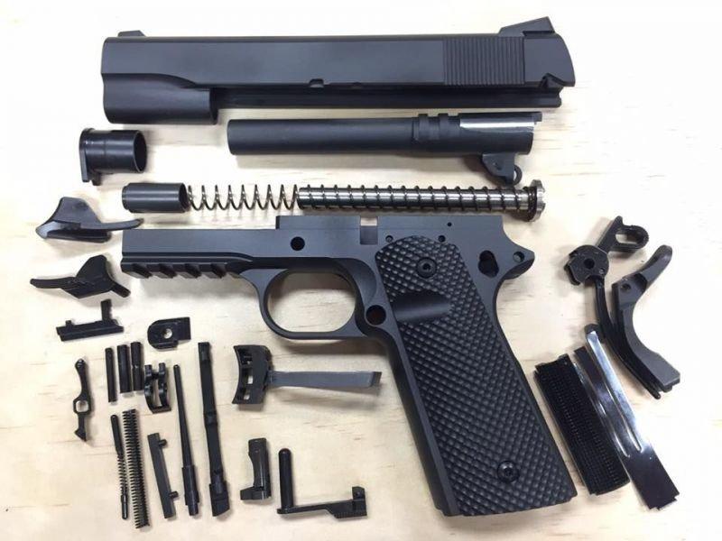 1911 Caliber 10mm Tactical 80% Build Kit - Black