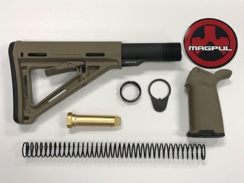 AR-15 Magpul Moe FDE Stock & Moe Plus FDE Grip