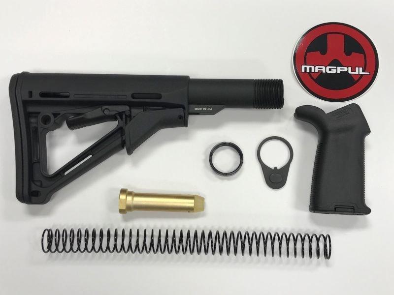 AR-15 Magpul CTR Moe Black Stock Kit & Moe Plus Black Grip