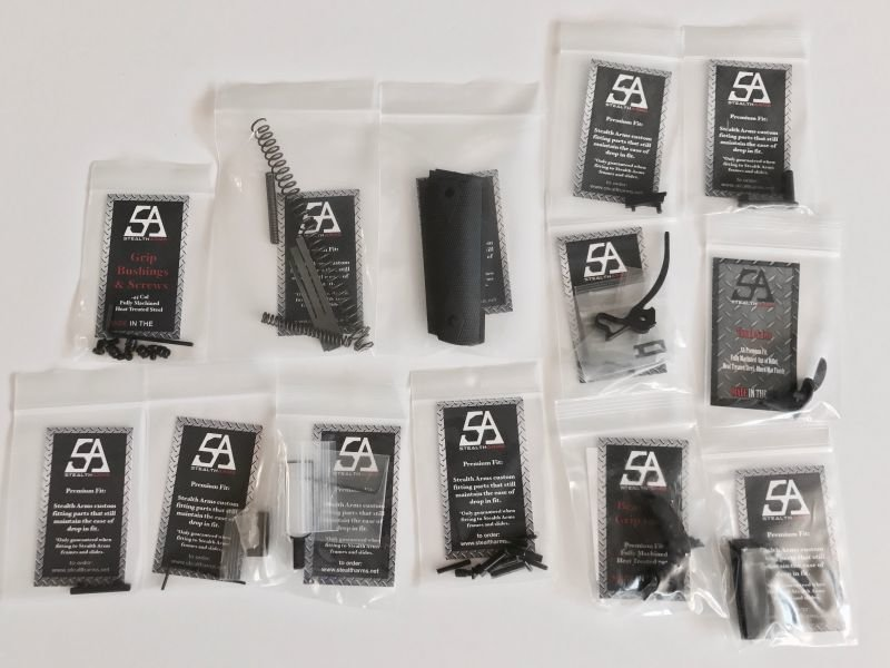 Stealth Arms - 1911 .45 ACP Government Model Series 70 - Complete Lower Parts Kit (No Frame or Upper Slide)
