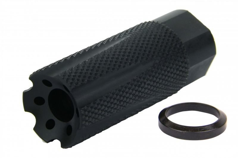 "NURLON 9mm 1/2x36"" TPI MUZZLE BRAKE BLACK NITRIDE"
