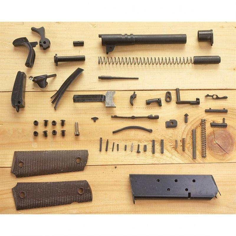 Complete 1911 .45 ACP GI Parts Kit 70 Series - Less Frame & Slide