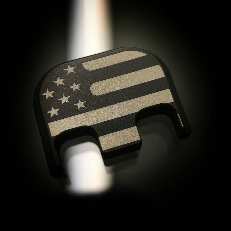 Traditional American Flag - Black Cerakote Stainless Steel