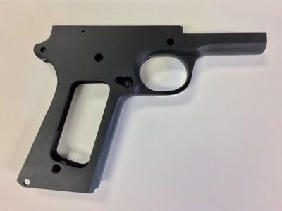 1911 80% Full Size Government 9mm Frame - Series 70 Forged 4140 Steel Black