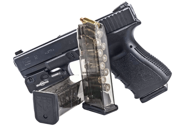 Elite Tactical Systems Group, Mag, 9MM, 10Rd, Smoke, Fits Glock 19