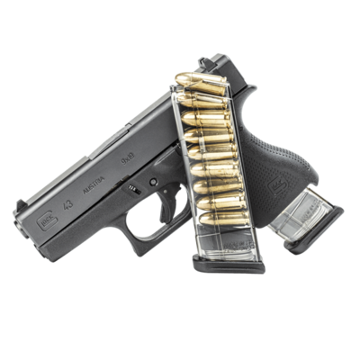 Elite Tactical Systems Group, Mag, 9MM, 9Rd, Smoke, Fits Glock 43