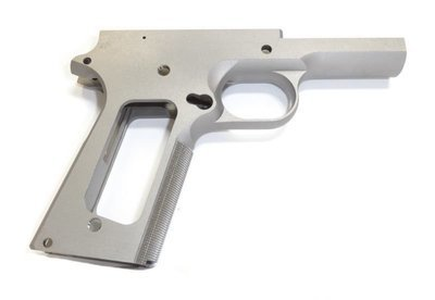 1911 80% Full Size 45 ACP Government Frame - 416R Stainless Steel With Grip Checkering Grip For Non Ramped Barrels