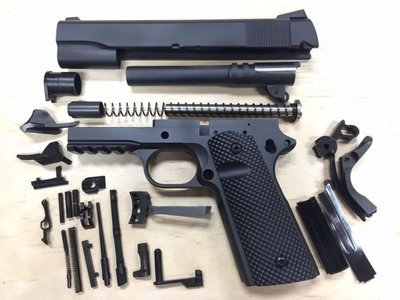 1911 Caliber 10mm Tactical 80% Build Kit - Black