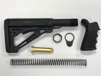 AR-15 Hogue Black Mil-Spec Stock Kit & Black Hogue Grip