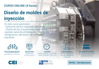 Curso online: Diseño de moldes de inyección (26 y 28 de enero del 2021)