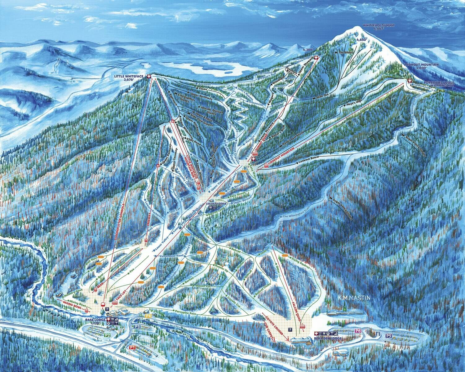 Whiteface Trail Map