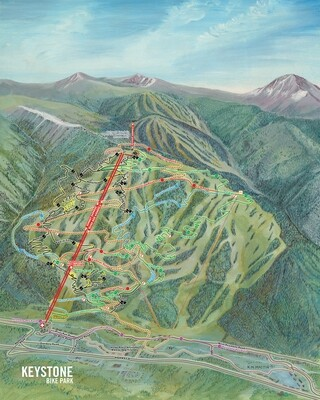 Keystone Bike Trail Map
