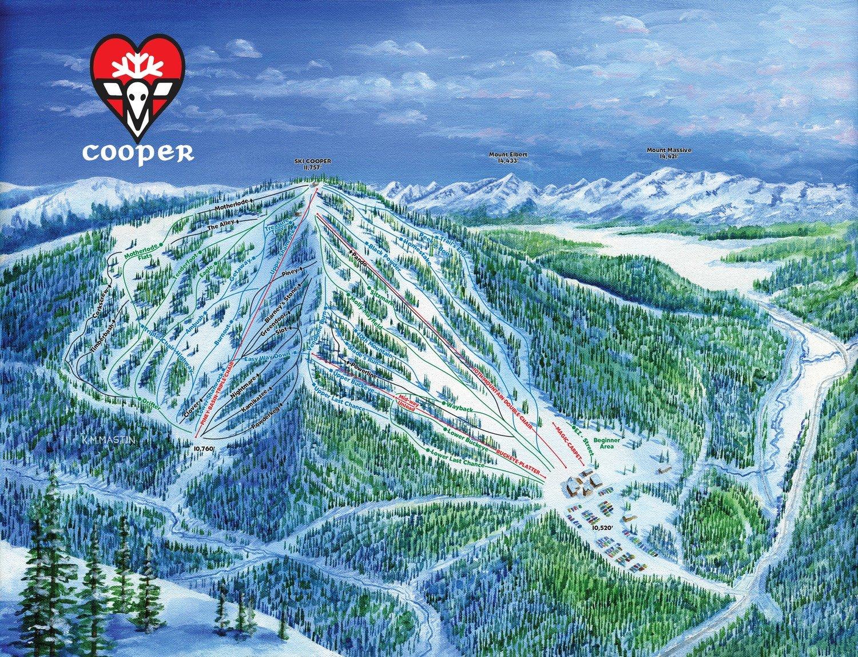 Ski Cooper Trail Map