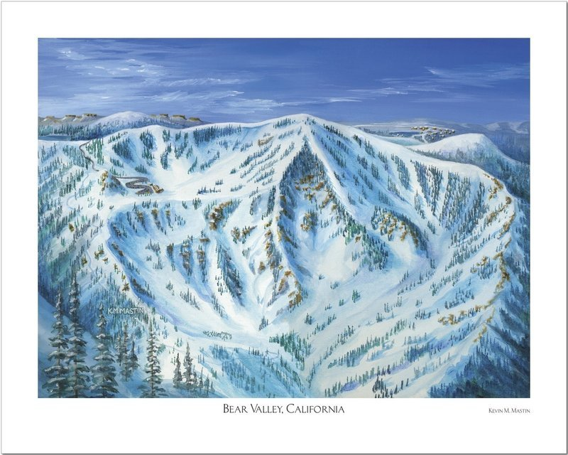 Bear Valley Snow Bowl Art Poster