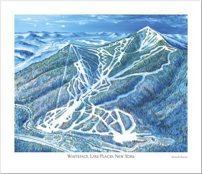 Lake Placid Whiteface Art Poster