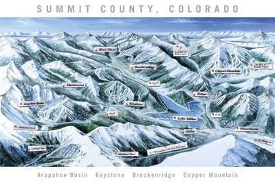 Summit County Trail Map White