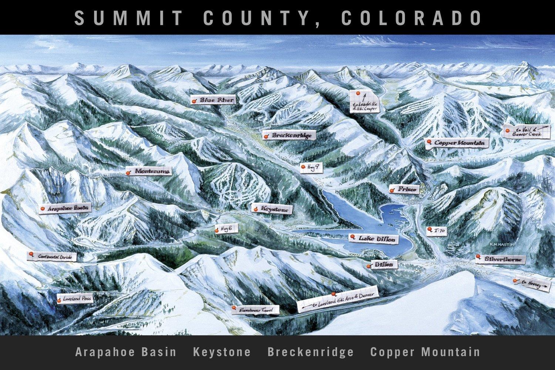 Summit County Trail Map Black