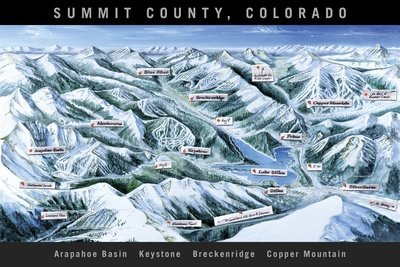 Summit County Trail Map Black